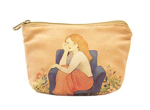 Créatif et élégant toile sacs cosmétique/bourse
