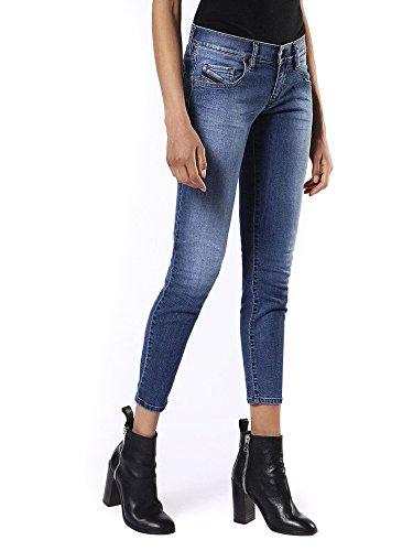 Diesel Grupee-Ankle Pantaloni Jeans Skinny, Blu (900-Denim 0681n), 32W x 32L Donna