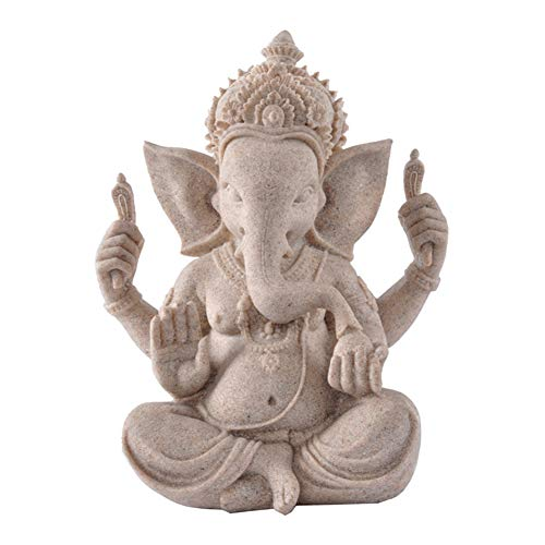 Ganesha-Buddha-Statue, Sandstein, Elefant, Skulptur, Fengshui-Figur, Handwerk, Heimdekoration