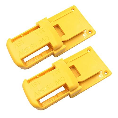 Milkvetch Paquete de 2 Soportes de BateríAs, Base de Herramientas EléCtricas para De-Dewalt 18/20 V y para 18 V Serie M18 de Iones de Litio, Amarillo