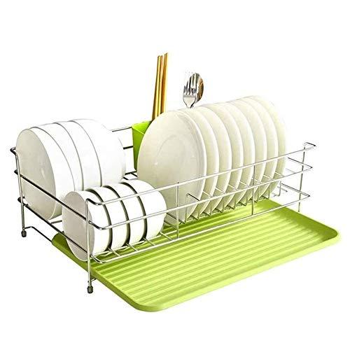 CHENXU Práctico y Conveniente Escurridor de Platos Escurridor de Drenaje Junta y utensilio Titular Simple fácil de Usar Rack Plato con pequeña Bandeja escurridor for Mueble de Cocina