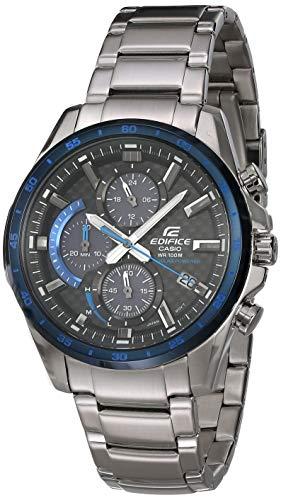 Casio Men's Edifice Quartz Watch with Stainless-Steel Strap, Silver, 22 (Model: EQS-900DB-2AVCR)