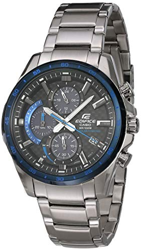 Casio Men's Edifice Quartz Watch with Stainless-Steel Strap, Silver, 22 (Model: EQS-900DB-2AVCR)