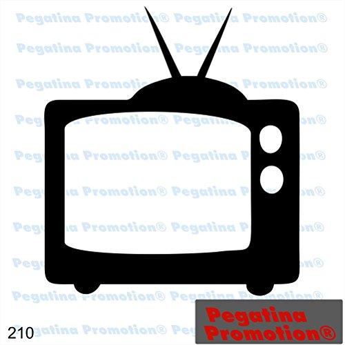 Piktogramm Typ 210 Icon Symbol Zeichen TV Fernseher Aufkleber Sticker ca.15cm von Pegatina Promotion® Aufkleber mit Verklebehilfe von Pegatina Promotion® ohne Hintergrund geplottet