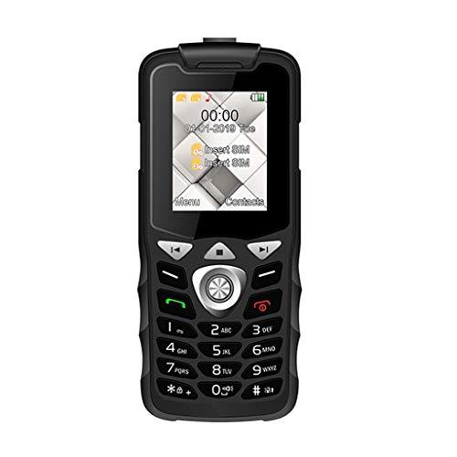 Comie Blueteeth Mobile Phone, W2026 Mini Big Volue Entsperrt Tastatur Telefon Dual SIM mit Notruftaste Senioren Handys mit Große Tasten Mobiltelefon Notruffunktion Welt der Smallphone (Schwarz)