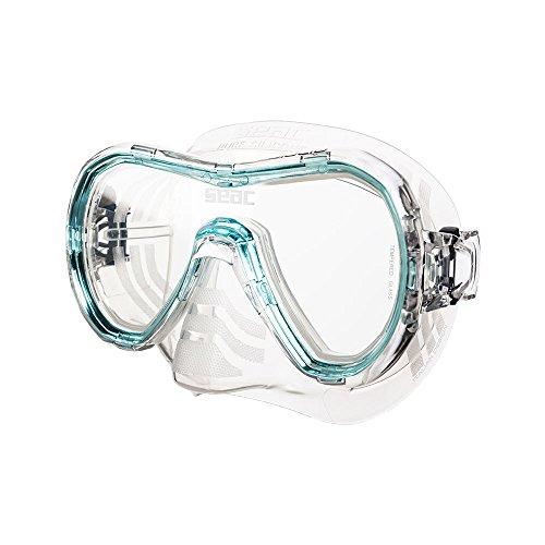 Seac Giglio, Einglasmaske zum Schnorcheln und Tauchen für Erwachsene, transparent/türkis