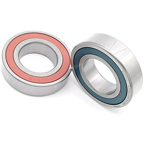 MOCHU Bearings 1pair 7005 H7005C-2RZ-P4-DBA 25x47x12 Sealed Angular Contact Bearings Speed Spindle Bearings CNC ABEC-7 Metric, 25mm ID, 47mm OD, 12mm Width, Machine Tool Spindle Engraving Machine