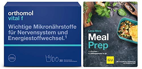 Orthomol Vital F Granulat/Tablette/Kapseln Monatspackung plus Meal Prep von Lena Merz