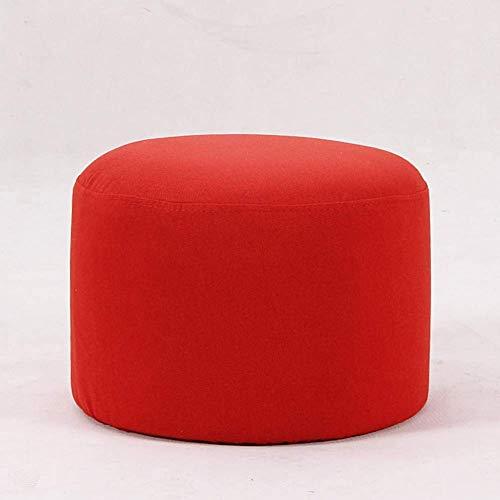 NMDD Reposapiés tapizado Reposapiés cómodo otomano, reposapiés en Forma de Cubo Taburete tapizado Acolchado Transpirable con Funda extraíble Reposapiés de Almacenamiento (Color: Red, Tamaño: 40x4