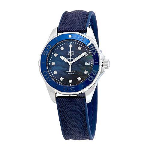 Tag Heuer Aquaracer Reloj para Mujer, Esfera de Diamante con nácar Az