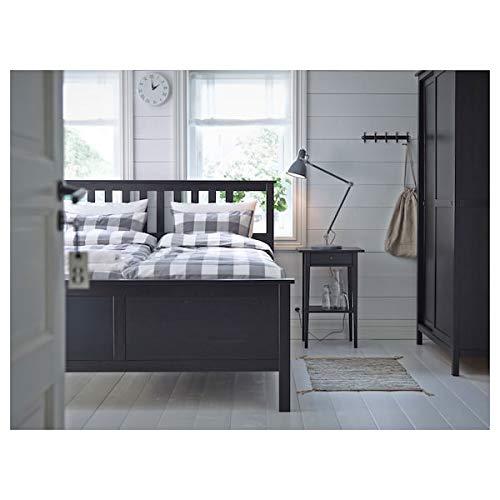 Mesita de noche DiscountSeller HEMNES, color marrón negro, 46x35 cm duradero y fácil de cuidar. Mesas auxiliares. Mesas y mesas. Mesas y escritorios. Muebles respetuosos con el medio ambient