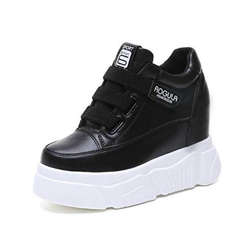 Zapatos Casuales para Mujer, Zapatos de tacón Alto de cuña para Usar con Fondo Suave, Zapatillas de Estilo Harajuku al Aire Libre, Zapatos de Plataforma Gruesa de Primavera y Verano