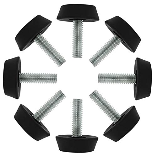 sourcing map 8 Stk. Verstellbare Möbelfüße Nivellierfüße Möbelgleiter Bodenschutz für Möbel Stuhlbein M6 x 20x25mm