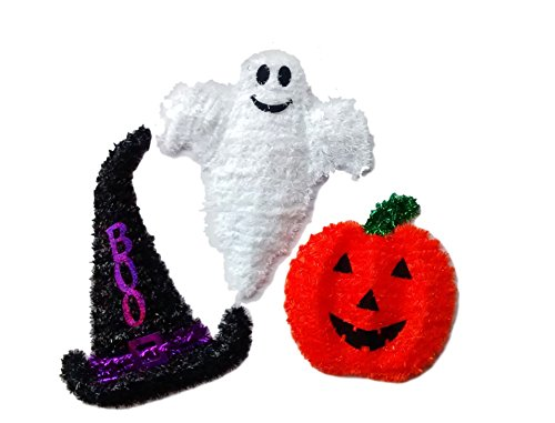 GHOST, PUMPKIN/JACK O LANTERN ,WITCH HAT WITH BOO SAYING WALL HANGING SIGN- TEACHER CLASSROOM DECORATIONS