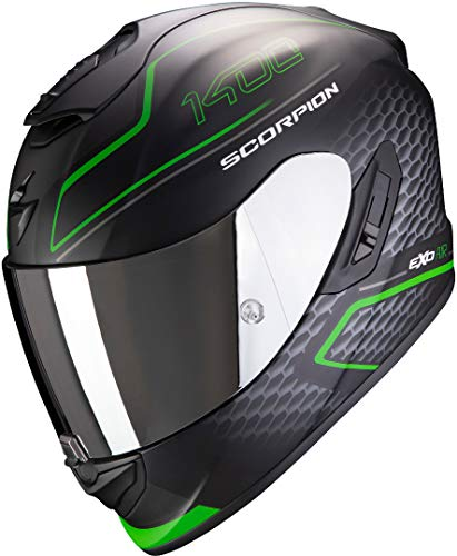 Scorpion NC Casco per Moto, Hombre, Verde, M