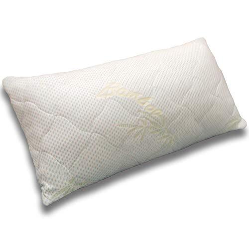 Traumreiter Kopfkissen Visco Dream 40x80 I Memory Foam Seitenschläfer-Kissen Gelschaum Flocken Füllung schwere Premium-Qualität   Body Pillow Schlafrolle