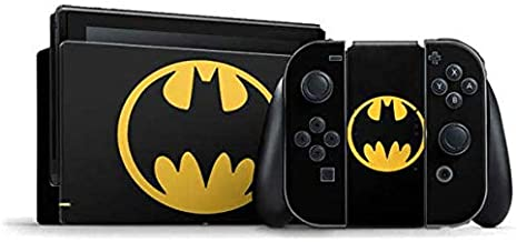 Skinit Decal Gaming Skin for Nintendo Switch Bundle - Officially Licensed Warner Bros Batman Logo Design
