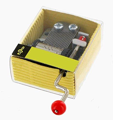 Lutèce Créations Caja de música/Caja Musical/Mecanismo Musical de manivela de cartón - Canción de Cuna/Nana de Johannes Brahms