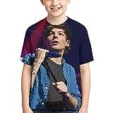 Camiseta Louis Tomlinson para niños, Cuello Redondo, Manga Corta, niños, niñas, 6-16, Camiseta, Camisetas para Adolescentes, Camisetas para Adolescentes