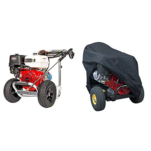 SIMPSON Cleaning ALH4240 Aluminum Gas Pressure Washer Powered by Honda GX390, 4200 PSI @ 4.0 GPM, Red & Classic Accessories 79507 Gas Pressure Washer Cover,Black,48 Inch