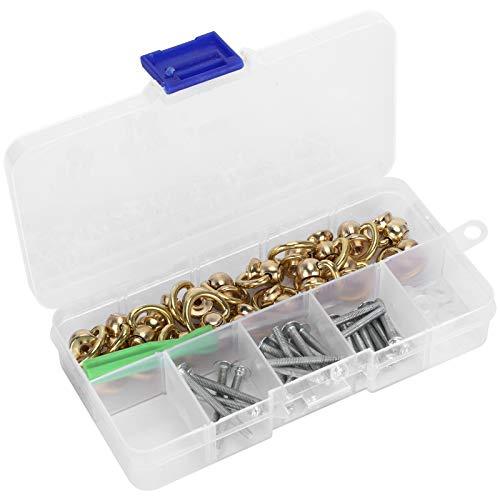 Remaches de anillo en D, remaches de anillo en D Botón de espárrago de bola giratoria Conector de manija de hebilla de latón Suministros de artesanía -603