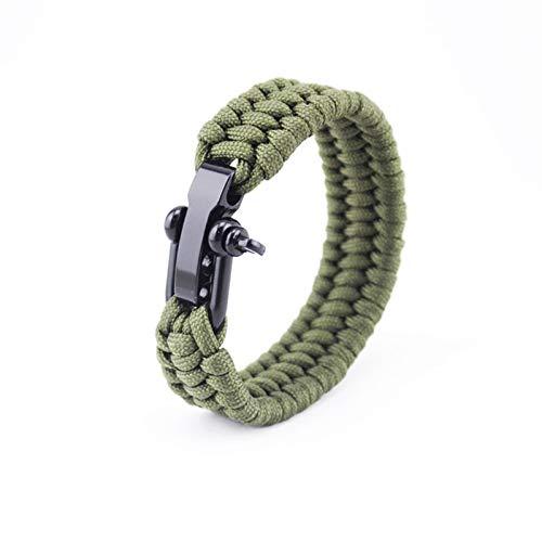 Cuerda de Paracord, Supervivencia al aire libre Senderismo Escalada pulsera multi funcional Paracord de emergencia 550 for Hombres Mujeres (Color : Army Green, Length(m) : 8inch(20cm))