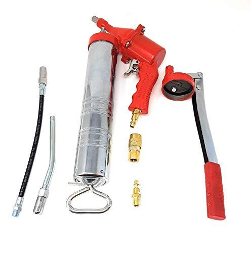 Toolzy 100749 Druckluft-Fettpresse Pneumatisch Hand Fettpresse Einhandfettpresse Schmierpresse