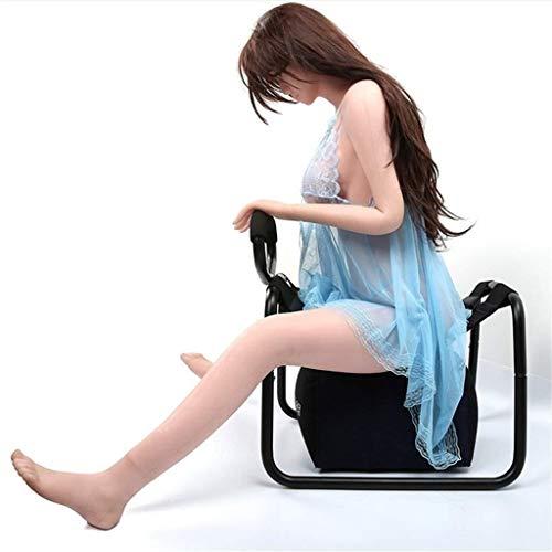 Zeezm masajeador fácil de llevar Multifuncional almohadilla de la silla de múltiples funciones Sin peso Presidente de fitness Silla plegable portable de la silla elástico dormitorio muebles silla Depo