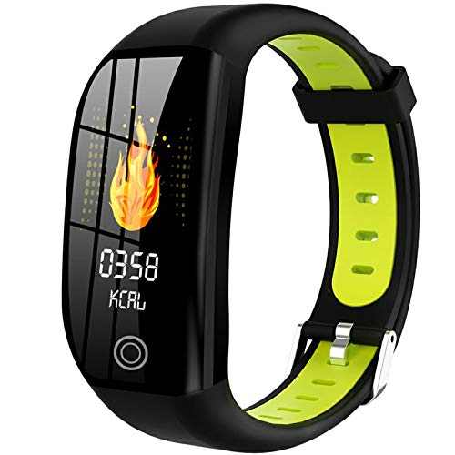 wEnBU DT35 F21 Reloj inalámbrico Inteligente Pulsera Inteligente Rastreador de Ejercicios a Prueba de Agua Monitor de Ritmo cardíaco Pulsera Deportiva Reloj Inteligente Verde