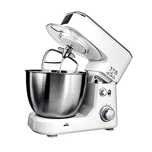 Multifunktionell Kommersiell Mixer, Hushåll Knådning Liten Automatisk Matlagningsmaskin Levereras Med Tillbehör Köksassistent Bakning Av Mat (Color : White)