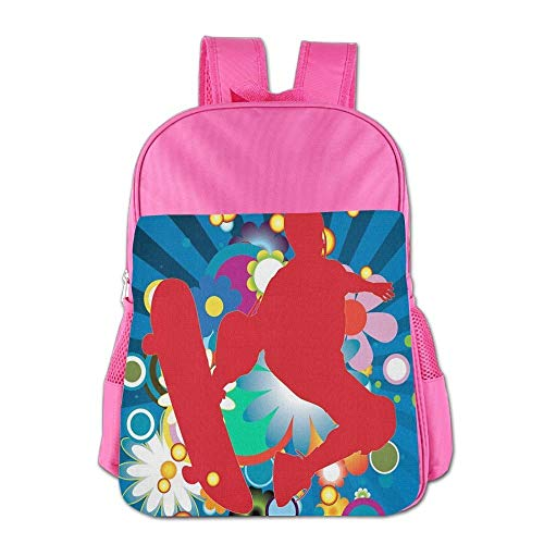 htrewtregregre Sports Parkour Skateboard Schule Backpack Kinder Shoulder Daypack Kid Lunch Tote Taschen Pink