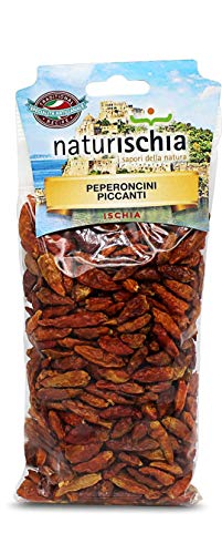 Naturischia - 3 confezioni di Peperoncini interi piccanti 60 gr. ciascuna - Prodotto tipico Ischia