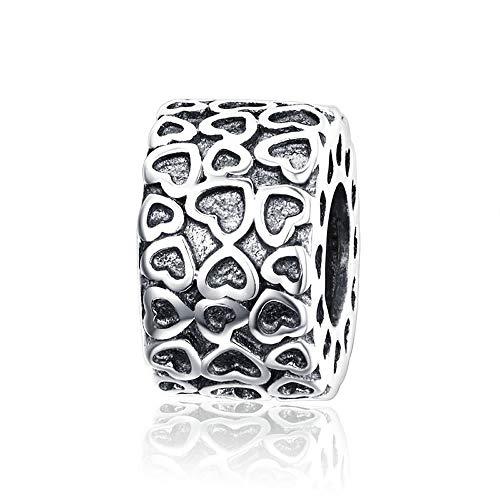 Echte 925 sterling zilveren hart tot hart graveren kralen passen originele armbanden sieraden Valentijnsdag cadeau