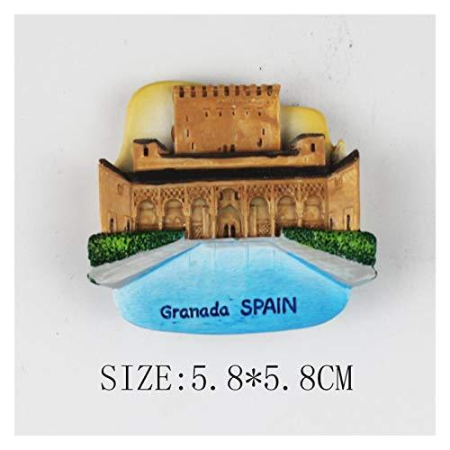 yywl Imán de refrigerador Toro español Bull Gifts Gifts Resin Granada Lizard España Refrigerador Pegatinas Viaje Mosaico Frigorífico Imán Souvenir (Color : Yellow)