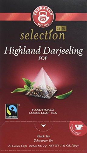 Pompadour Té Highland Darjeeling Teekanne - Pack de 4 x 20 Bolsitas piramidales