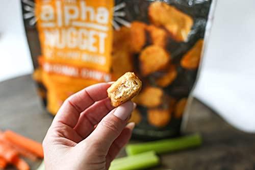 Alpha Foods Chik'n Nugget + Burger Variety Pack | (Pack of 8) | 100% Vegan, Plant-Based Protein | Breaded Chicken Nuggets | Breaded Chicken Patty | Frozen Meat Substitute