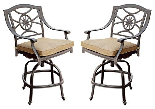 Awesome Reviews Of Darlee Ten Star Cast Aluminum Swivel Bar Stool Spiritservingveterans Wood Chair Design Ideas Spiritservingveteransorg