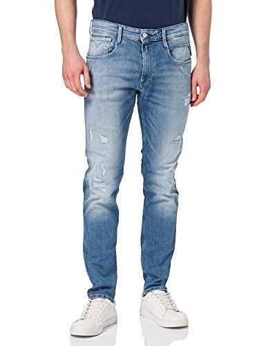 Replay Anbass 573 Bio Jeans, Bleu Clair (010), 33W / 32L Homme