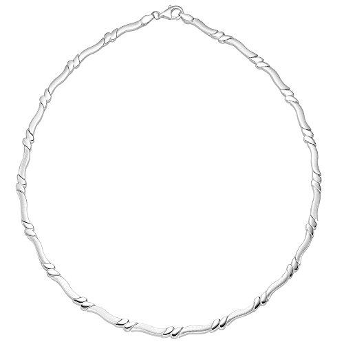 Vinani Kollier bewegliche Glieder mattiert glänzend Sterling Silber 925 Halskette Kette Collier Italien 2KB1