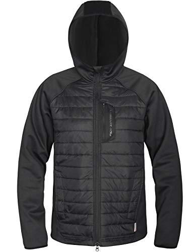 Lesmart Men's Hybrid Jacket Quilted Lightweight Hooded Sport Jacket Size M Orange