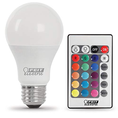 Feit Electric LED Remote Control Changing Party Bulb A19/HP/PARTY/LEDG2, A19, RGBW Multi-Color