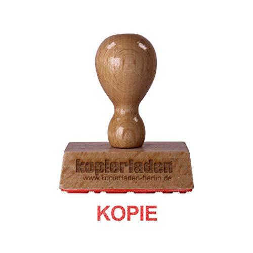 Houtstempel KOPIE, 50 x 10 mm, hoogwaardige houten stempel uit beukenhout magazijntekst