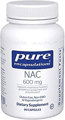 Pure Encapsulations - NAC 600 mg - Amino Acids to Support Glutathione Production and Detoxification* - 90 Capsules