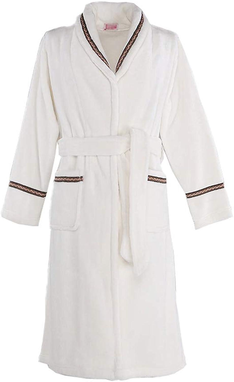 Men's Kimono Fleece Bathrobe Turkish Soft Plush Robe (color   White(Woman), Size   XXL)