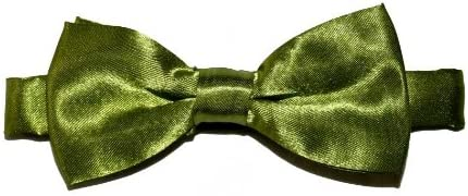 BubuBibi Boys Toddlers Kids Teenager Wedding Prom Solid Bowtie Bow Tie (Green)