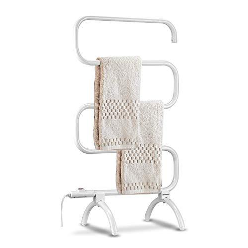 VBARV Toallero Vertical Calentador eléctrico Tipo S - Secadora para Colgar en la Pared toallero de pie hogar Hotel salón de Belleza baño toallero toallero