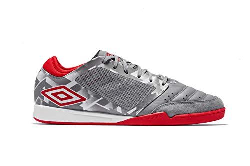 Umbro CHALEIRA Pro, Zapatillas de fútbol Sala Hombre, Gris (Gray Flannel/Goji Berry Gz8), 42.5
