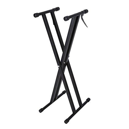 Keyboard Stand, Classic Tragbare Einstellbare Höhe X-Style Keyboard Stand HöHenverstellbar X Ständer Mit Double Verspannte Musik Elektrische Orge Halter