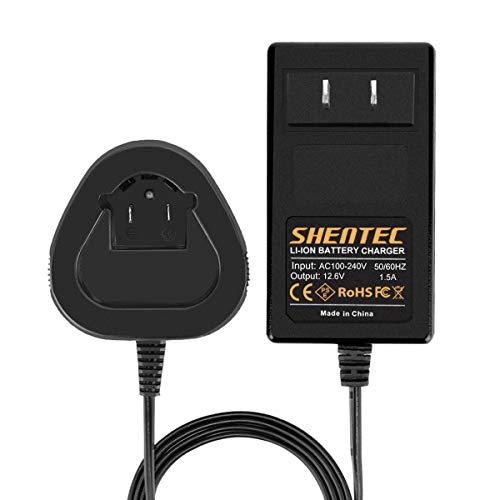 Shentec 12V Li-ion Battery Charger Compatible with Dremel 12V 8200 8220 8300 B812-02 B812-03 Battery(NOT for Ni-MH/NI-CD Battery)