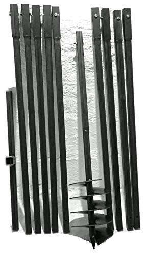 MWS-Apel 200 mm 10 Meter Erdbohrer Brunnenbohrer Handerdbohrer Erdlochbohrer Brunnenbau Pfahlbohrer brunnenbohrgerät